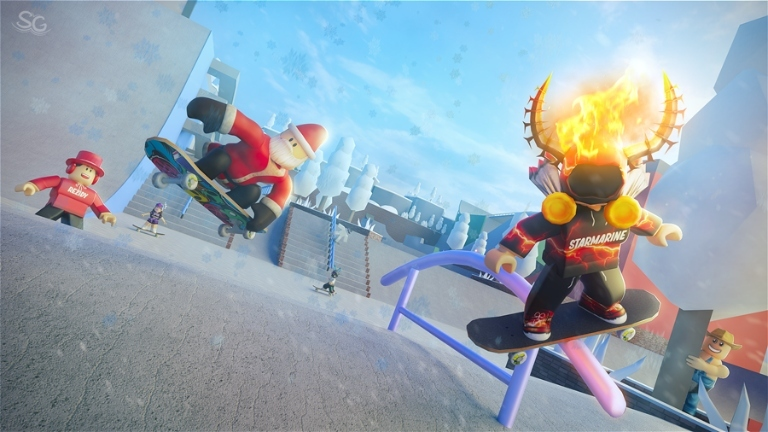 How do you do tricks in skate park on Roblox mobile?